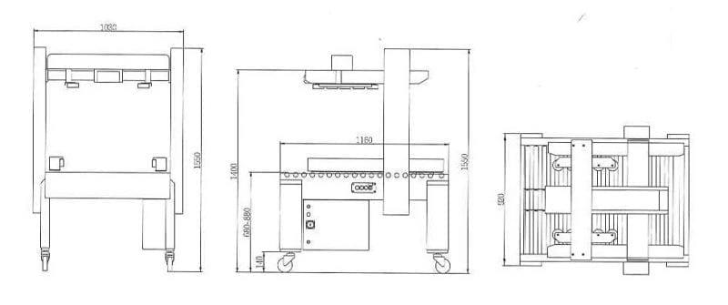 Dozensluiter CT 105 SDR tekening